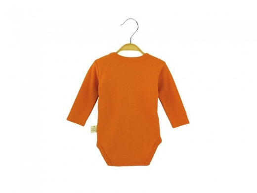 Body of orange color with long sleeves