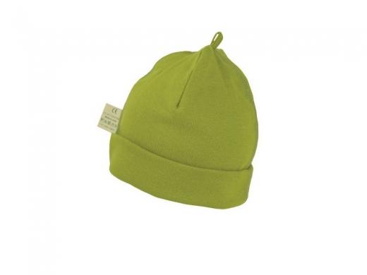 Детская трикотажная шапочка зелёная