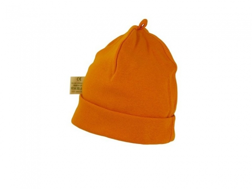 Детская трикотажная шапочка оранжевая