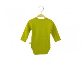 Bodī ar garām piedurknēm - olīvu zaļš