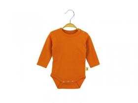 Боди с длинными рукавами оранжевого цвета