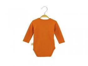 Bodī ar garām piedurknēm - oranžs